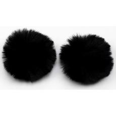 Klipsy - pompon czarny