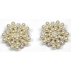 Kokardki - Okrągłe z perłami